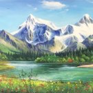 "American style Hand painted oil painting on canvas""Creek""70x180CM(27.6""x70.9"")Unframed-155"