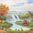 """American style Hand painted oil painting on canvas""""Creek""""70x180CM(27.6""""x70.9"""")Unframed-160"""