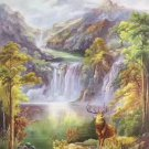 "Hand painted oil painting on canvas""The King Of Milu Deer""80x160CM(33""x63""inch)Unframed-12"