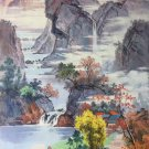"""Hand painted oil painting on canvas""""Mountains and rivers unlimited""""80x130CM(33""""x50"""")Unframed-17"""