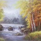"""American style Hand painted oil painting on canvas""""Creek""""70x180CM(27.6""""x70.9"""")Unframed-170"""