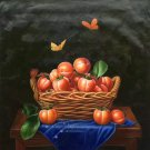 """Hand painted oil painting on canvas""""persimmon""""80x80CM(33""""x33"""")Unframed-27"""