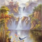 "Hand painted oil painting on canvas""Cute bird""60x120CM(24""x48"")Unframed-27"