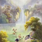 "Hand painted oil painting on canvas""Cute bird""60x120CM(24""x48"")Unframed-28"