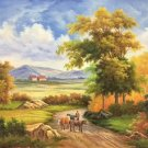 """Hand painted oil painting on canvas""""Image of the countryside""""50x60CM(19.7""""x23.6"""")Unframed-67"""