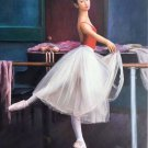 "European style Body Art Hand painted oil painting on canvas""Ballet girl""50x60CM(20""x24"")Unframed-01"