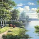 "Nordic style Hand painted oil painting on canvas""forest""60x120CM(23.6""x47.2"")Unframed-47"