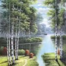 "Nordic style Hand painted oil painting on canvas""forest""60x120CM(23.6""x47.2"")Unframed-52"