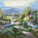 "Hand painted oil painting on canvas""Image of the countryside""60x90CM(23.6""x35.4"")Unframed-69"