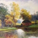 """Hand painted oil painting on canvas""""Creek""""50x60CM(19.7""""x23.6"""")Unframed-192"""