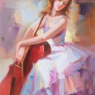"""Chinese style Hand painted oil painting on canvas""""Sexy Girl""""60x90CM(23.6""""x35.4"""")Unframed-23"""