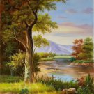 """Hand painted oil painting on canvas""""Image of the countryside""""50x60CM(19.7""""x23.6"""")Unframed-71"""