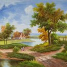"""Hand painted oil painting on canvas""""Image of the countryside""""50x60CM(19.7""""x23.6"""")Unframed-72"""