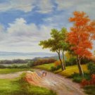 "Hand painted oil painting on canvas""Image of the countryside""50x60CM(19.7""x23.6"")Unframed-73"