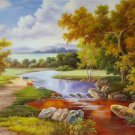 "Hand painted oil painting on canvas""Image of the countryside""60x90CM(23.6""x35.4"")Unframed-74"