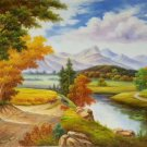 "Hand painted oil painting on canvas""Image of the countryside""60x90CM(23.6""x35.4"")Unframed-75"