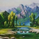"Hand painted oil painting on canvas""Creek""60x120CM(23.6""x47.2"")Unframed-198"