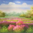 """Hand painted oil painting on canvas""""Creek""""60x120CM(23.6""""x47.2"""")Unframed-202"""