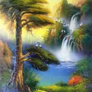 "Hand painted oil painting on canvas""Creek""60x90CM(23.6""x35.4"")Unframed-206"