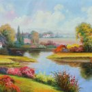 """Hand painted oil painting on canvas""""Image of the countryside""""70x180CM(27.6""""x70.9"""")Unframed-80"""