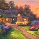 """Hand painted oil painting on canvas""""Image of the countryside""""70x180CM(27.6""""x70.9"""")Unframed-81"""