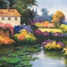 """Hand painted oil painting on canvas""""Image of the countryside""""70x180CM(27.6""""x70.9"""")Unframed-83"""