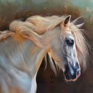 "Hand painted oil painting on canvas""Akhal-teke horses""75x100CM(30""x40"")Unframed-37"