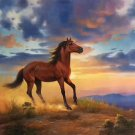 "Hand painted oil painting on canvas""Akhal-teke horses""75x100CM(30""x40"")Unframed-38"