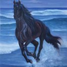 """Simple modern Hand painted oil painting on canvas""""Akhal-teke horses""""60x90CM(23.6""""x35.4"""")Unframed-40"""