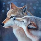 "Hand painted oil painting on canvas""Wolf""60x90CM(24""x36"")Unframed-02"