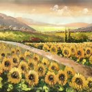 "Hand painted oil painting on canvas""Image of the countryside""70x180CM(27.6""x70.9"")Unframed-86"
