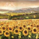 """Hand painted oil painting on canvas""""Image of the countryside""""70x180CM(27.6""""x70.9"""")Unframed-87"""