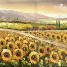 """Hand painted oil painting on canvas""""Image of the countryside""""70x180CM(27.6""""x70.9"""")Unframed-88"""
