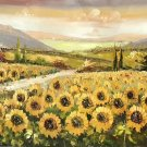 """Hand painted oil painting on canvas""""Image of the countryside""""70x180CM(27.6""""x70.9"""")Unframed-89"""