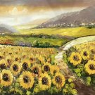 """Hand painted oil painting on canvas""""Image of the countryside""""70x180CM(27.6""""x70.9"""")Unframed-91"""