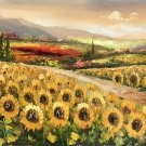 """Hand painted oil painting on canvas""""Image of the countryside""""70x180CM(27.6""""x70.9"""")Unframed-92"""