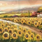 """Hand painted oil painting on canvas""""Image of the countryside""""70x180CM(27.6""""x70.9"""")Unframed-93"""
