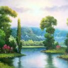 """Hand painted oil painting on canvas""""Creek""""60x90CM(23.6""""x35.4"""")Unframed-223"""