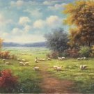 """Hand painted oil painting on canvas""""Image of the countryside""""80x200CM(33""""x80"""")Unframed-94"""