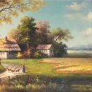 """Hand painted oil painting on canvas""""Image of the countryside""""80x200CM(33""""x80"""")Unframed-95"""
