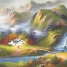 """Hand painted oil painting on canvas""""Image of the countryside""""70x180CM(27.6""""x70.9"""")Unframed-97"""