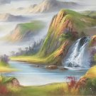 """Hand painted oil painting on canvas""""Image of the countryside""""70x180CM(27.6""""x70.9"""")Unframed-98"""
