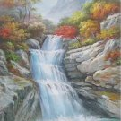 "Hand painted oil painting on canvas""Creek""70x100CM(30""x40"")Unframed-237"
