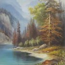 """Hand painted oil painting on canvas""""Creek""""70x100CM(30""""x40"""")Unframed-238"""