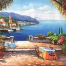"Hand painted oil painting on canvas""Sea view Villa""60x120CM(23.6""x47.2"")Unframed-77"