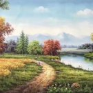 """Hand painted oil painting on canvas""""Creek""""60x120CM(23.6""""x47.2"""")Unframed-240"""