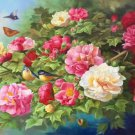 """Hand painted oil painting on canvas""""Peony""""70x150CM(30""""x60"""")Unframed-06"""