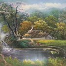 """Hand painted oil painting on canvas""""Image of the countryside""""50x60CM(19.7""""x23.6"""")Unframed-99"""