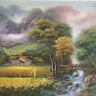 "Hand painted oil painting on canvas""Image of the countryside""50x60CM(19.7""x23.6"")Unframed-104"