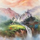 """Hand painted oil painting on canvas""""Image of the countryside""""60x90CM(23.6""""x35.4"""")Unframed-109"""